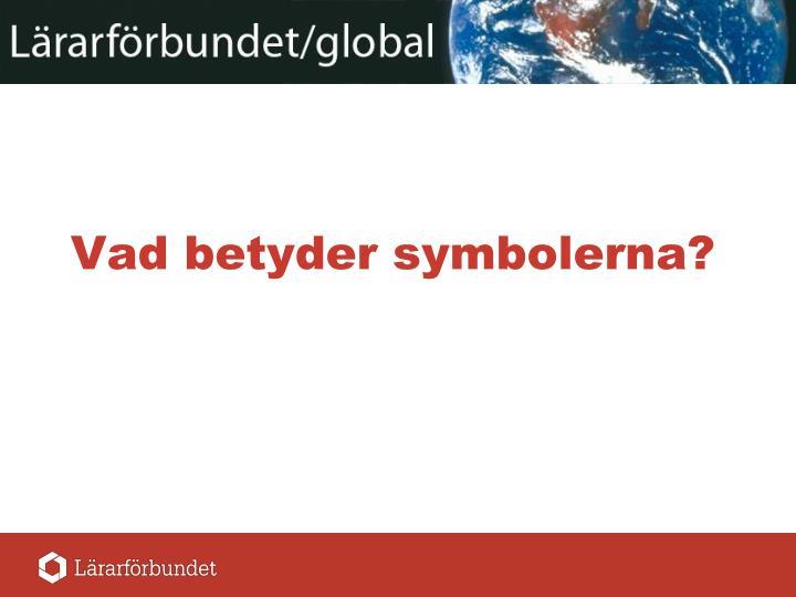 vad betyder symbolerna