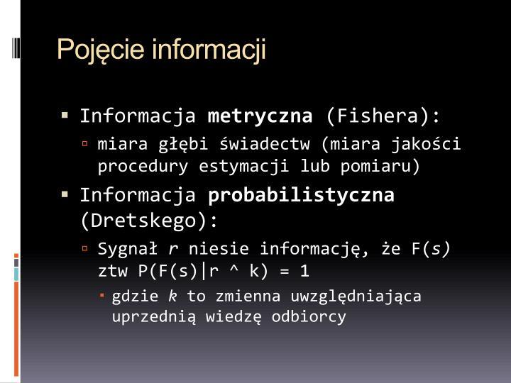 Pojęcie informacji