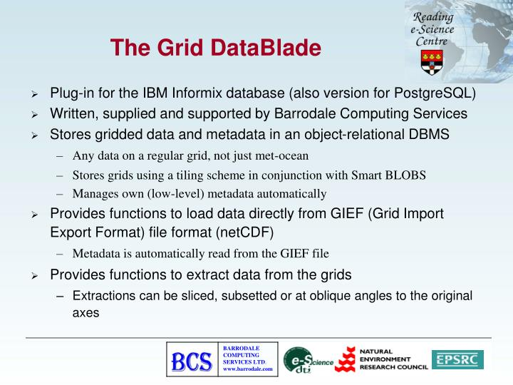 The Grid DataBlade