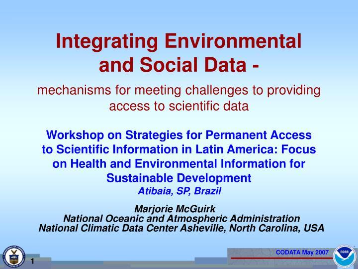integrating environmental and social data n.