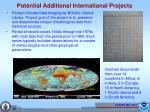 potential additional international projects