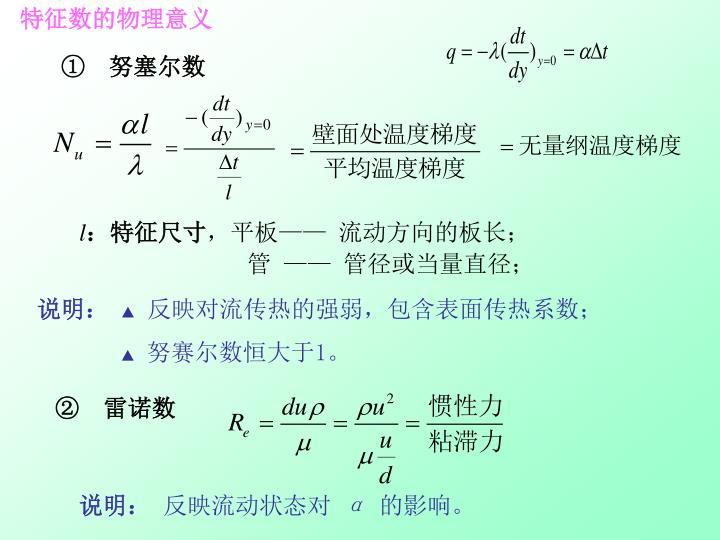 特征数的物理意义