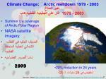 climate change arctic meltdown 1979 2003