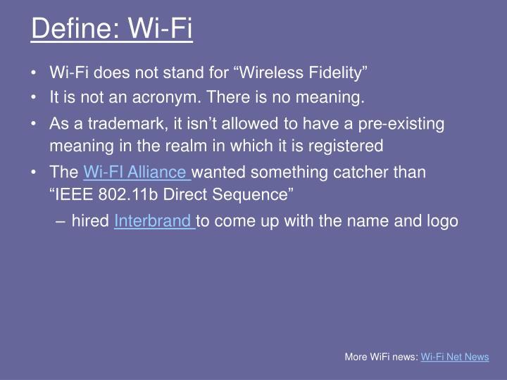 Define wi fi