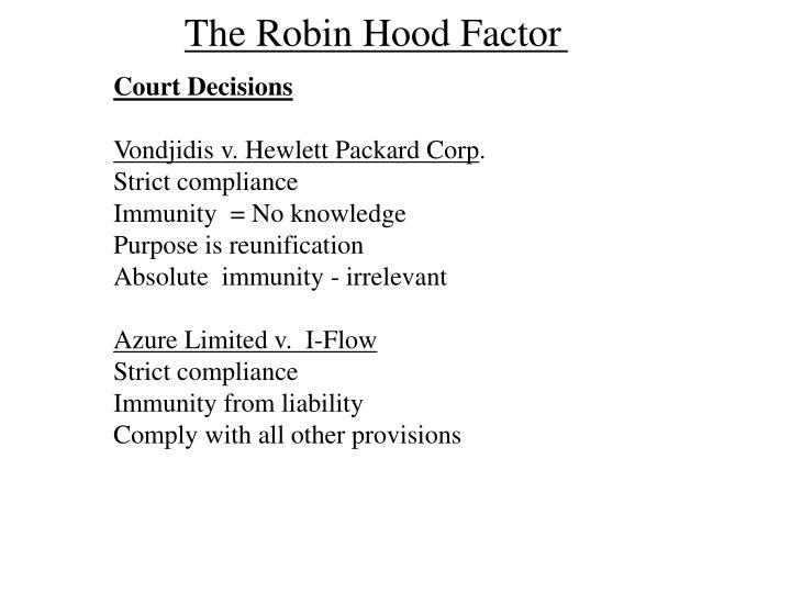 The Robin Hood Factor