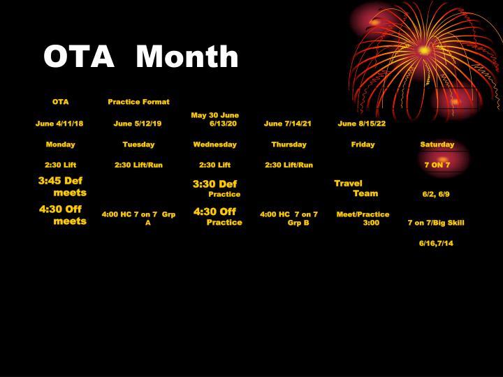 OTA  Month