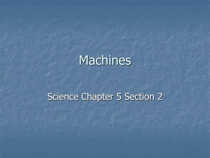 machines n.