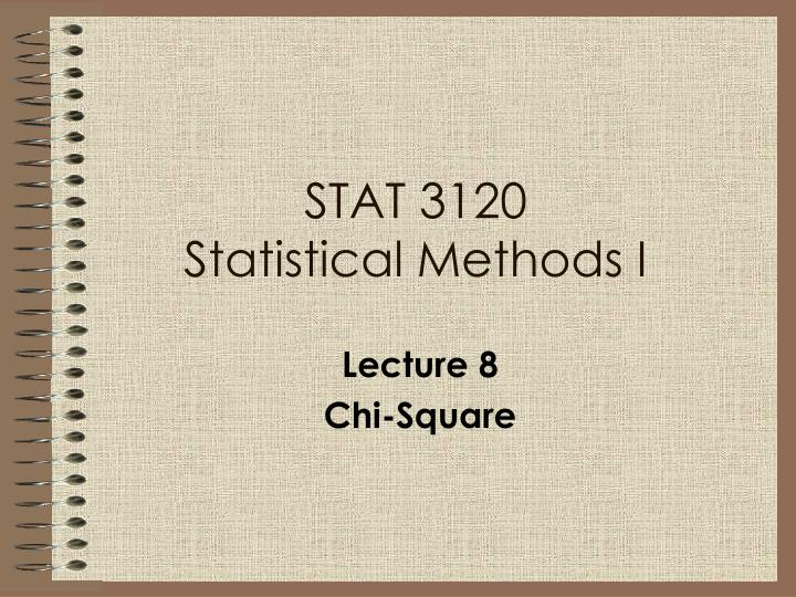 stat 3120 statistical methods i n.