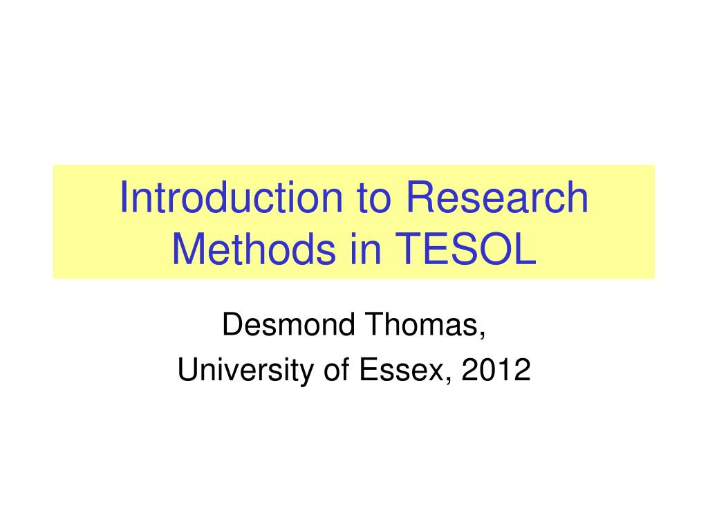 tesol research