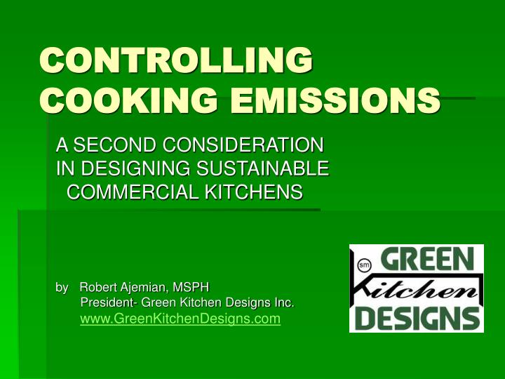 controlling cooking emissions n.