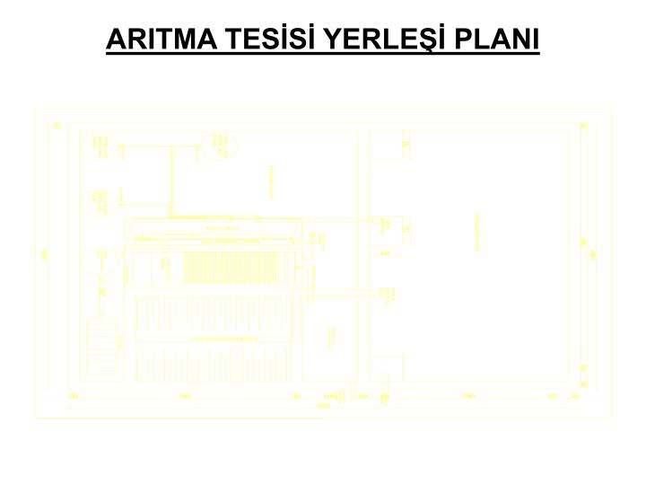 ARITMA TESİSİ YERLEŞİ PLANI