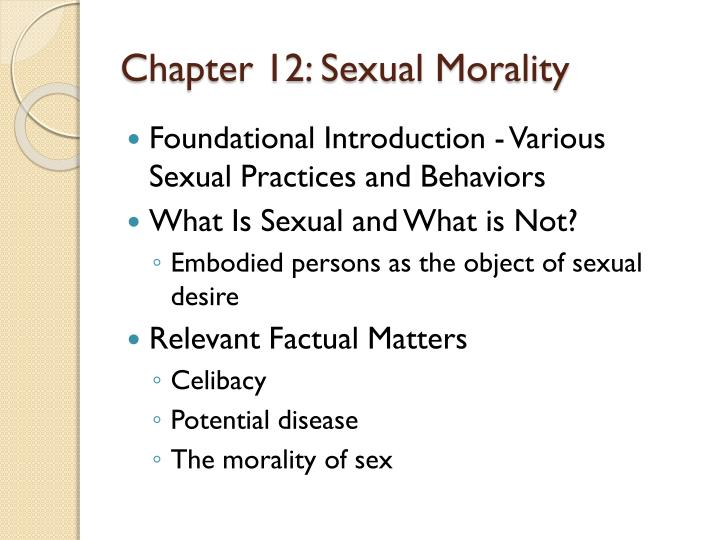chapter 12 sexual morality n.