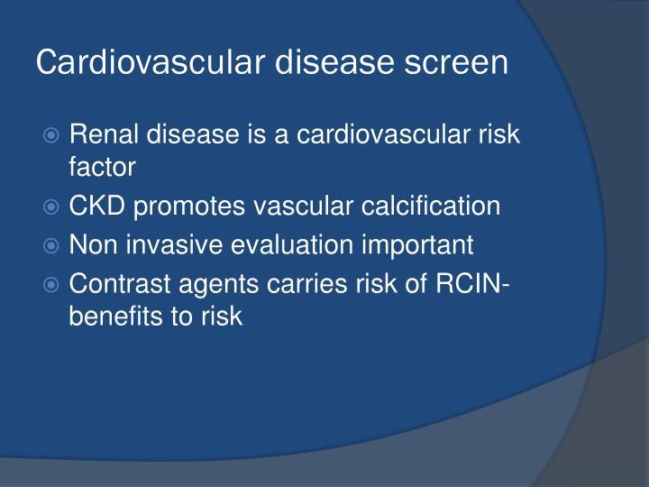 Cardiovascular disease screen