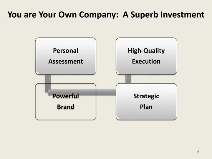 You are Your Own Company:  A Superb Investment