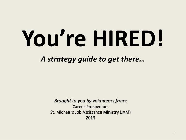 PPT - You're HIRED! PowerPoint Presentation - ID:3583602