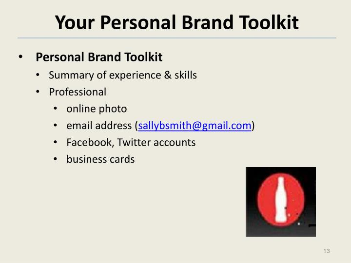 Your Personal Brand Toolkit