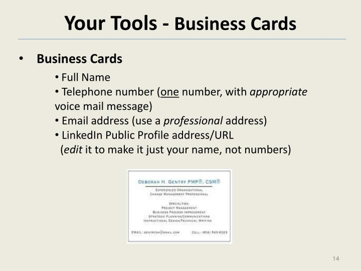 Your Tools -