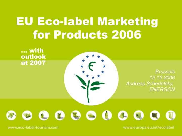 eu eco label marketing for products 2006 n.
