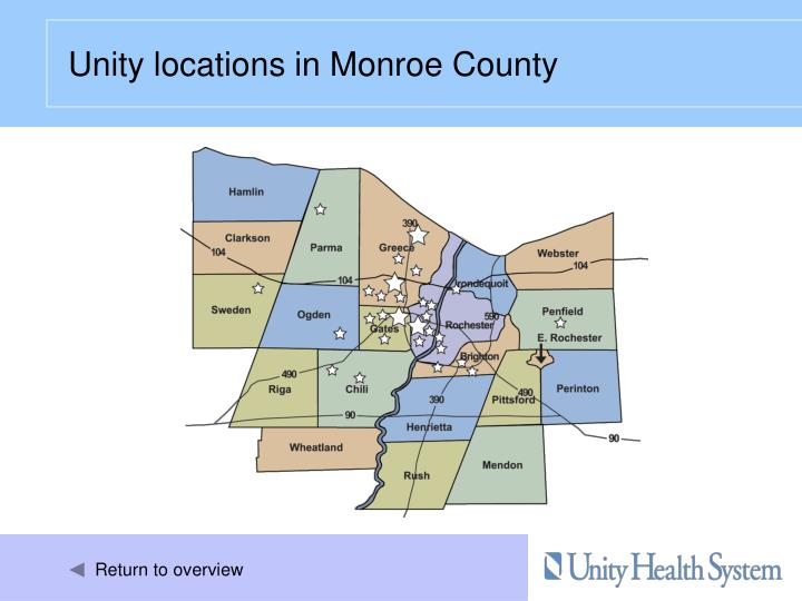 Unity locations in Monroe County