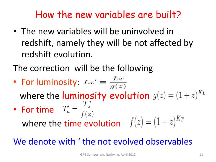 How the new variables are built?