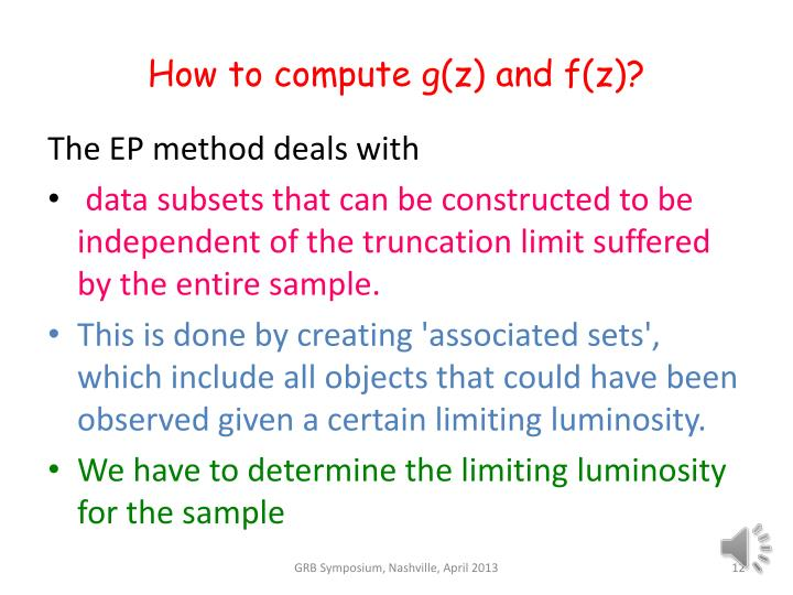 How to compute g(z) and f(z)?