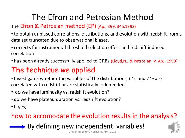 The Efron and Petrosian Method