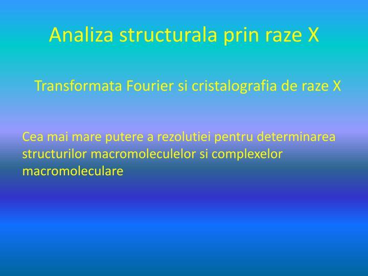 analiza structurala prin raze x n.