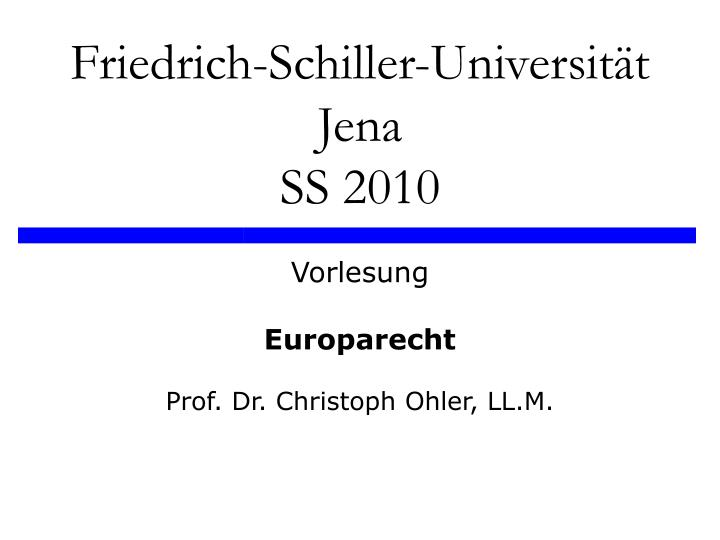 Friedrich schiller universit t jena ss 2010