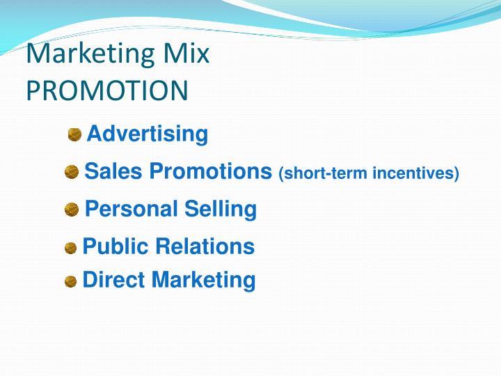Marketing mix promotion