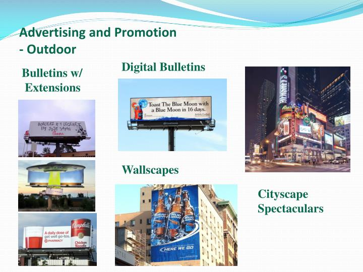 Advertising and Promotion  - Outdoor