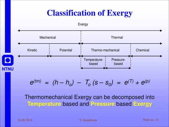 Classification of Exergy