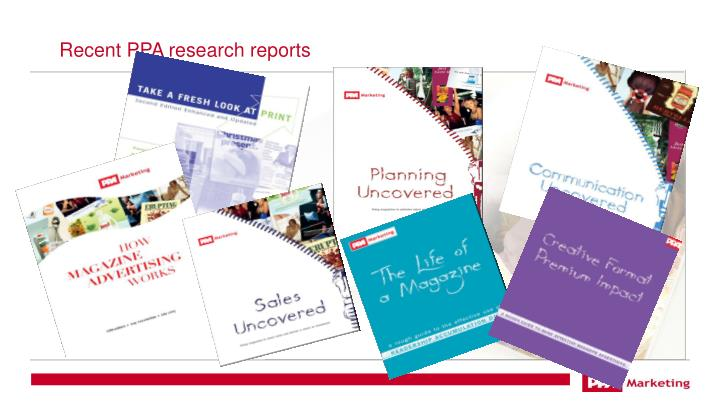 Recent PPA research reports
