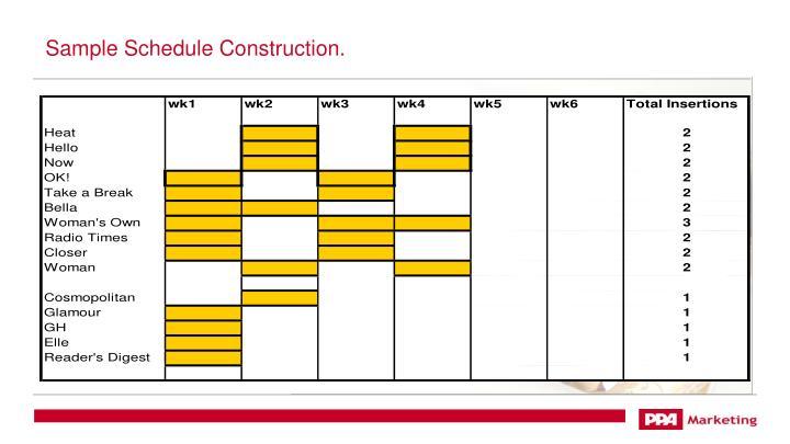 Sample Schedule Construction.