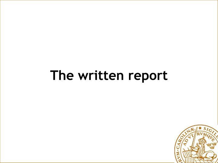 the written report n.