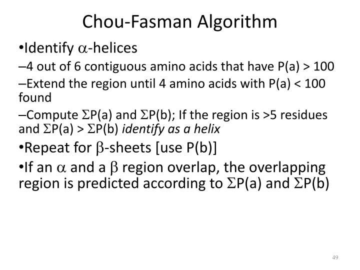 Chou-Fasman Algorithm