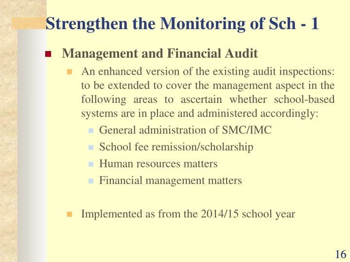 Management and Financial Audit