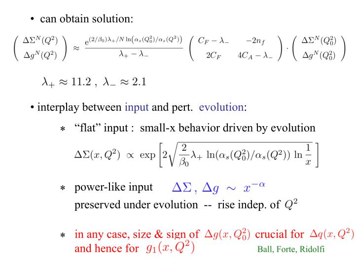 •  can obtain solution: