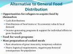 alternative to general food distribution