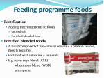 feeding programme foods