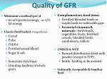 quality of gfr