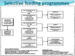 selective feeding programmes