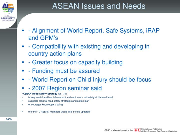 ASEAN Issues and Needs