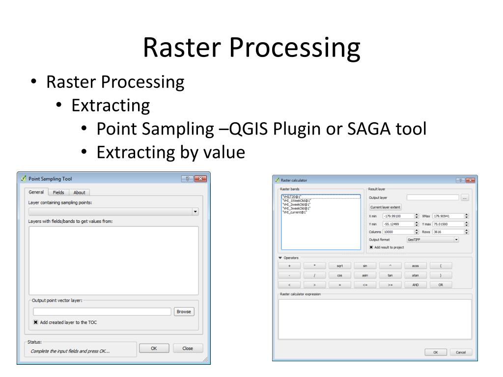 PPT - Raster Data in QGIS PowerPoint Presentation - ID:3584801