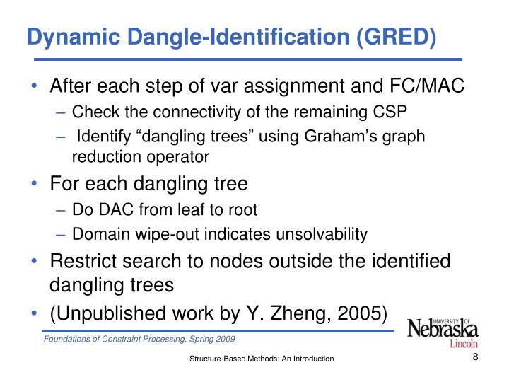 Dynamic Dangle-Identification (GRED)