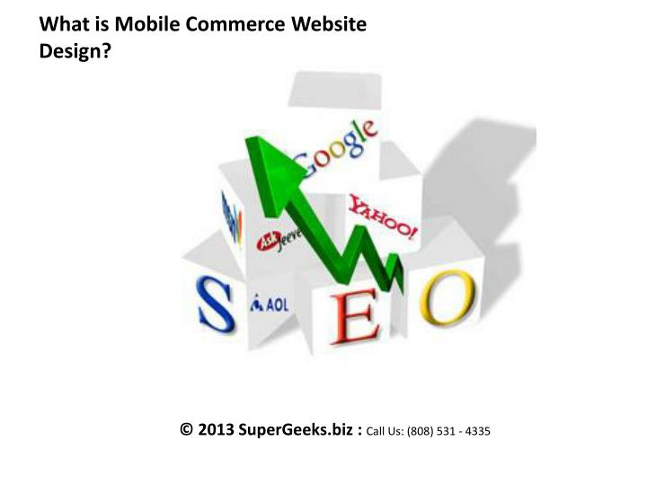 what is mobile commerce website design n.