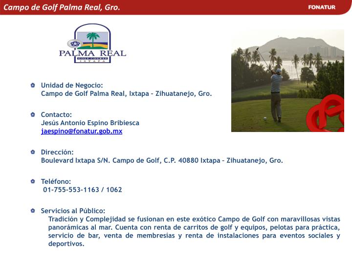 Campo de Golf Palma Real, Gro.