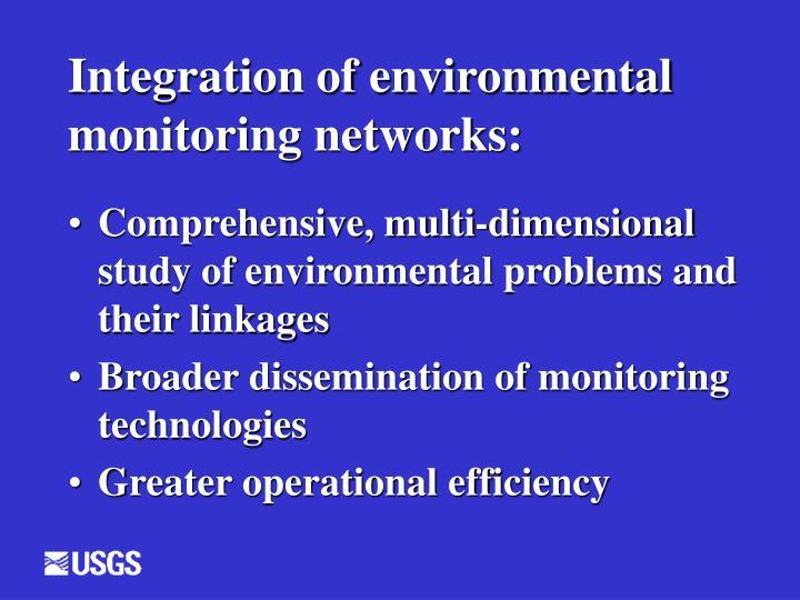 Integration of environmental monitoring networks