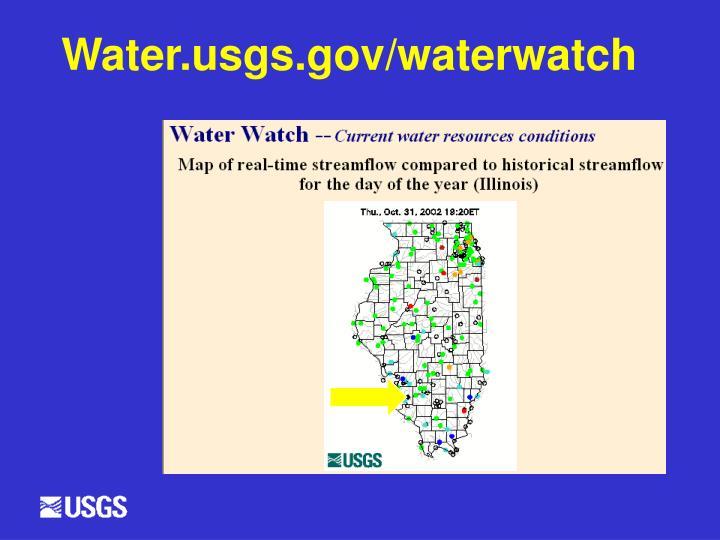 Water.usgs.gov/waterwatch