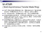 m atmr multi asynchronous transfer mode ring