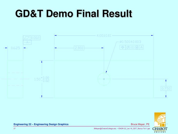 GD&T Demo Final Result